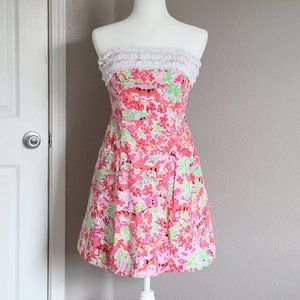Lilly Pulitzer Ferra Call Me Kitty Strapless Dress